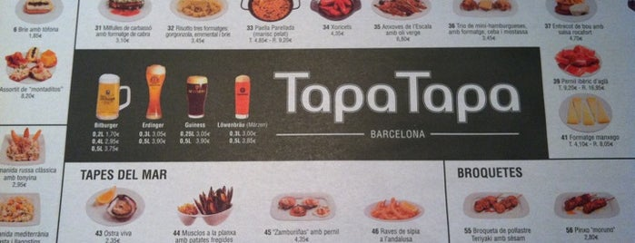 Tapa Tapa is one of BCN 2012.