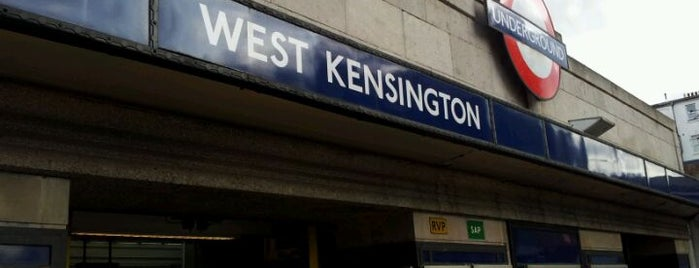 West Kensington London Underground Station is one of District Line.