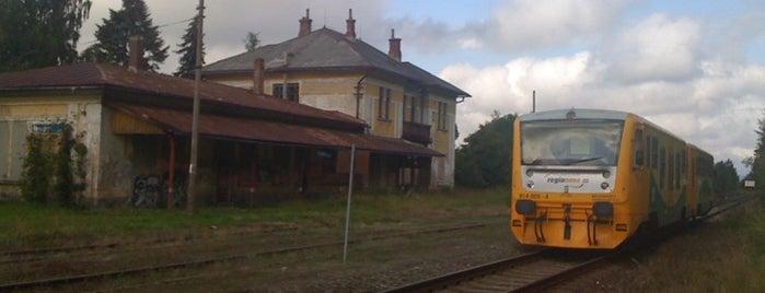 Železniční stanice Hranice v Čechách is one of Železniční stanice ČR: H (3/14).