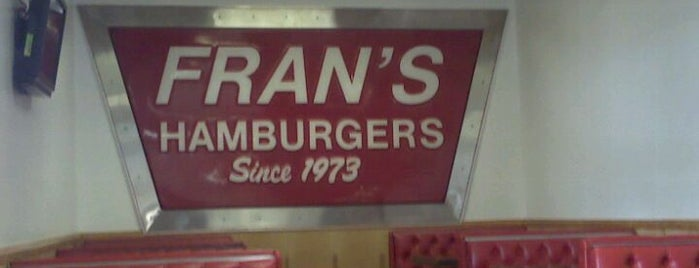 Fran's Hamburgers is one of Travel Channel Food Badges.