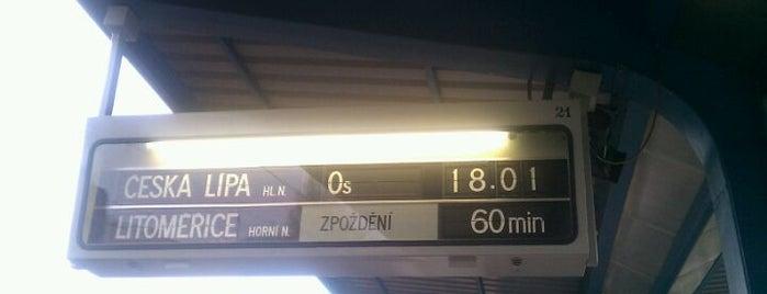 Železniční stanice Lovosice is one of Linka U6 Lovosice - Úpořiny - Teplice v Čechách.