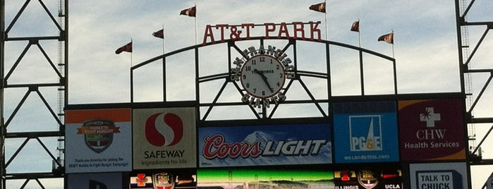 AT&T Park is one of Great City By The Bay - San Francisco, CA #visitUS.