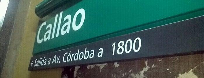 Estación Callao [Línea D] is one of Lugares usuales.