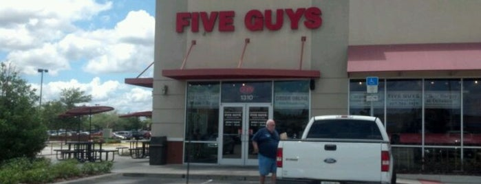 Five Guys is one of Orlando Food.