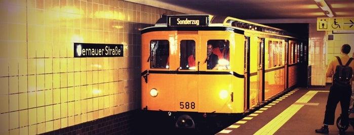 U Bernauer Straße is one of U-Bahn Berlin.