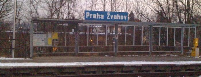 Železniční stanice Praha-Žvahov is one of Železniční stanice ČR: P (9/14).