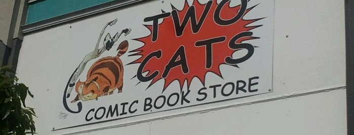 Two Cats Comic Book Store is one of San Francisco comic shops.