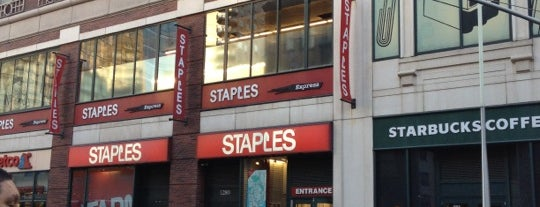 Staples is one of New York.