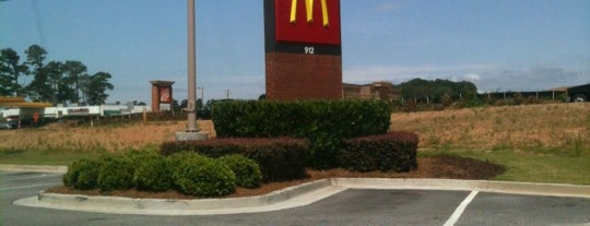 McDonald's is one of places.