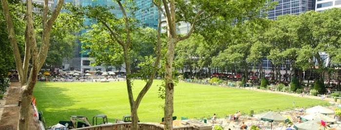 Bryant Park is one of NYC's Greatest Parks.