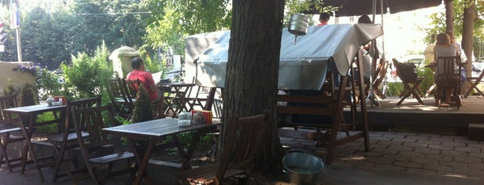 Лавка и кафе Студии Артемия Лебедева is one of Веранды & Крыши.