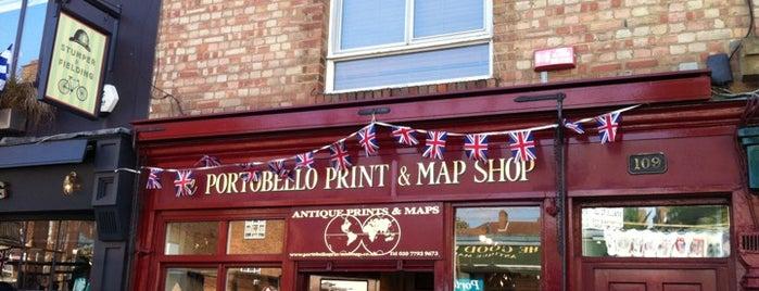 The Portobello Map & Print Shop is one of London.