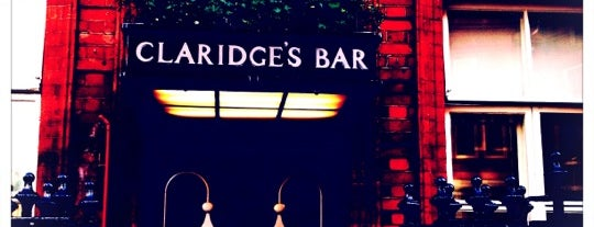 Claridges's Bar is one of My London.