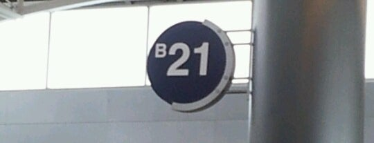 Gate B21 is one of Cincinnati Airport.