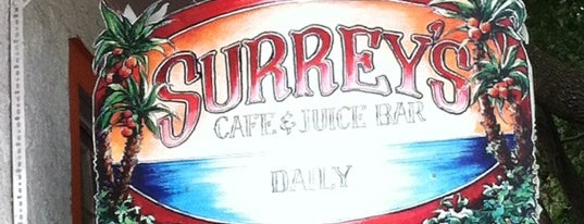 Surrey's Cafe & Juice Bar is one of Nola.