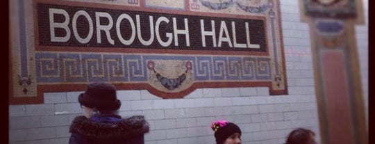 """MTA Subway - Borough Hall/Court St (R/2/3/4/5) is one of """"Be Robin Hood #121212 Concert"""" @ New York!."""