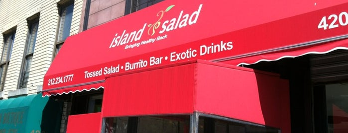 Island Salad is one of Dining in Harlem (cafes, bistros, sandwich shops).