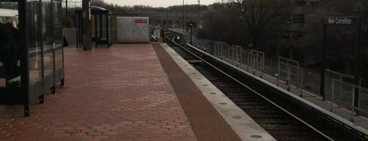 New Carrollton Metro Station is one of WMATA Train Stations.