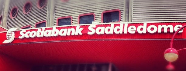 Scotiabank Saddledome is one of NHL Hockey Arenas.