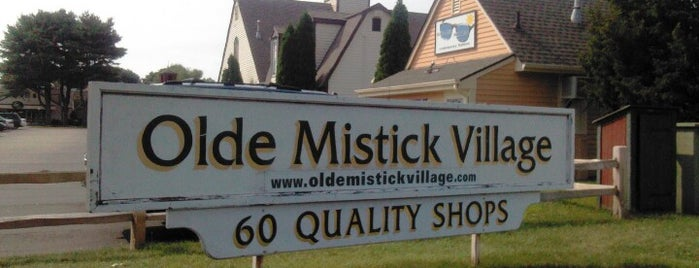 Olde Mystic Village is one of just a list of places.
