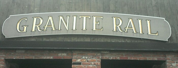 Granite Rail Tavern is one of Quincy- City of Presidents.