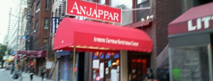 Anjappar New York is one of Restaurants.