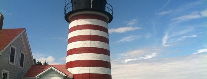 West Quoddy Head Lighthouse is one of Geographic Extremes.