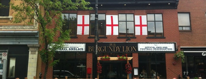 Burgundy Lion is one of Feed Me! Montreal.