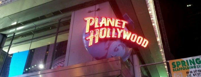 Planet Hollywood is one of 20 favorite restaurants.