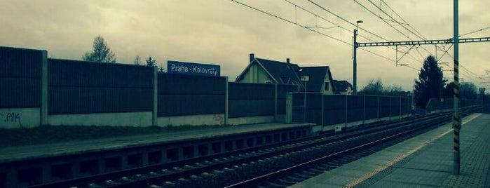 Železniční zastávka Praha-Kolovraty is one of Železniční stanice ČR: P (9/14).