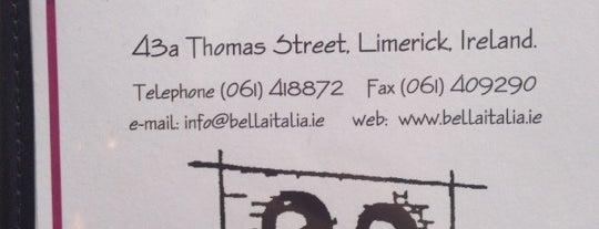 Bella Italia is one of Limerick.