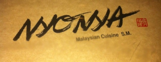 Nyonya is one of SC/NY - Yet To EAT.