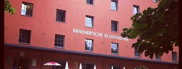 Caffé Fausto in der Kraemer'schen Kunstmühle is one of Restaurants, Café & Bars Munich.