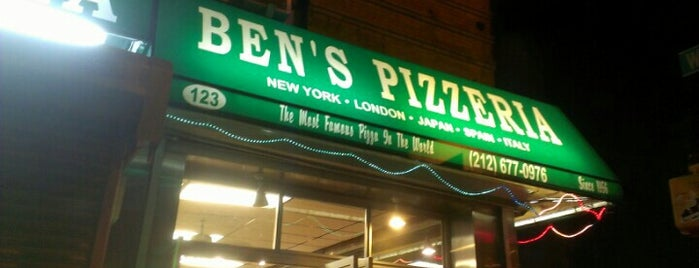 Ben's Pizzeria is one of New York III.