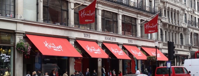 Hamleys is one of Hand Drawn Map of London.