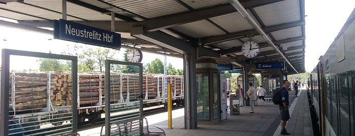 Neustrelitz Hauptbahnhof is one of DB ICE-Bahnhöfe.