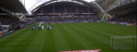 John Smith's Stadium is one of Football grounds visited.