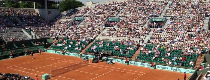 Court Suzanne Lenglen is one of Roland Garros 2013.