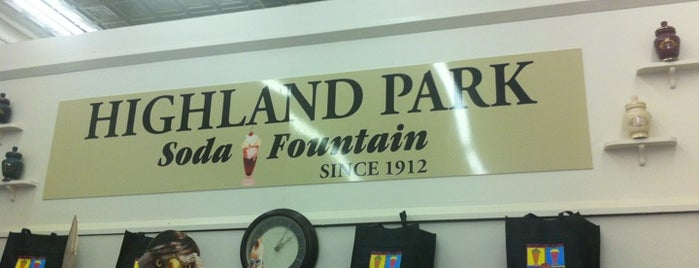 Highland Park Old-Fashioned Soda Fountain is one of Knox Street Dallas.