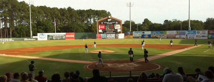 Historic Grayson Stadium is one of Travel Guide to Savannah.