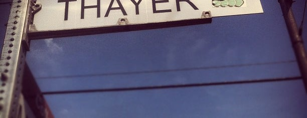 Thayer Street is one of just a list of places.