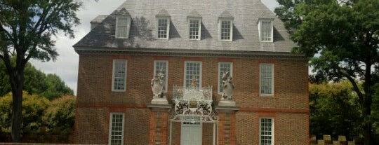 Governor's Palace is one of Colonial Williamsburg.