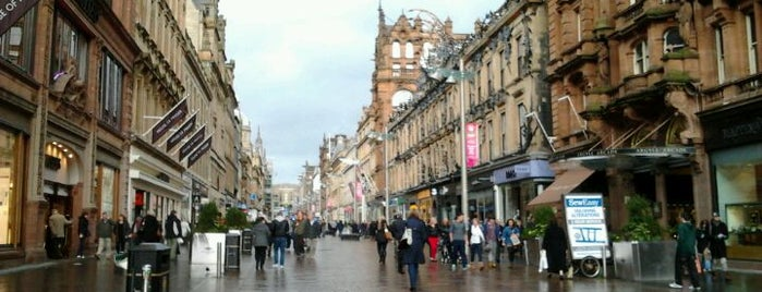 Buchanan Street is one of Glasgow I was there.