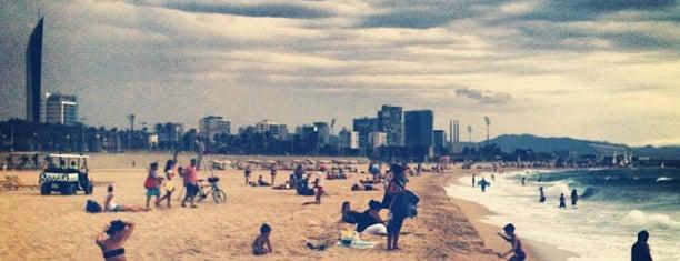 Bogatell Beach is one of Barcelona.