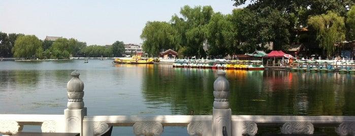 什刹海公园 Shichahai Park is one of Beijing.