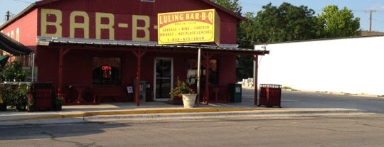 Luling Bar- B- Q is one of The BEST of Texas BBQ!.
