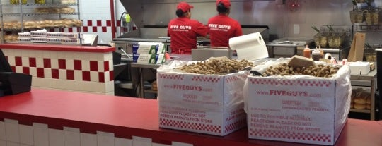 Five Guys is one of Favorite places to get food!.