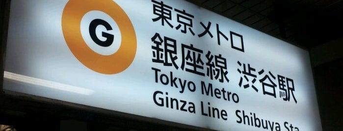 Ginza Line Shibuya Station (G01) is one of 東京メトロ 銀座線 全駅.