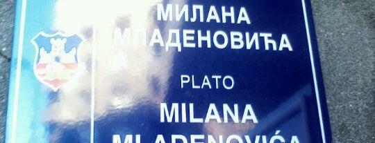 Plato Milana Mladenovića is one of Parks and city squares in Belgrade.