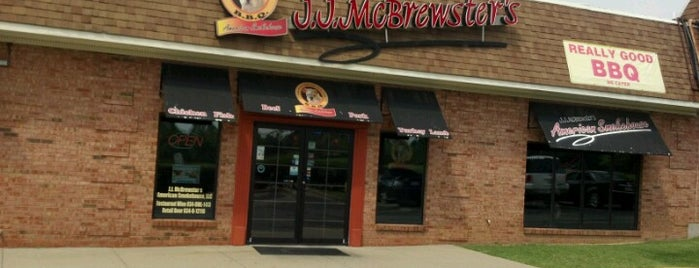 J.J. McBrewster's is one of Diners, Drive-Ins, and Dives- Part 2.